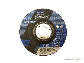 10 NORTON Vulcan Schruppscheiben 115x6,4mm Metall / INOX T27 gekröpft Made in EU