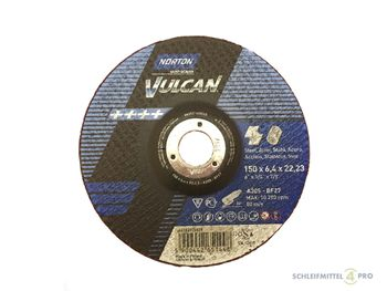 10 NORTON Vulcan Schruppscheiben 150x6,4mm Metall / INOX T27 gekröpft Made in EU – Bild 1