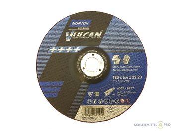 10 NORTON Vulcan Schruppscheiben 180x6,4mm Metall / INOX T27 gekröpft Made in EU – Bild 1