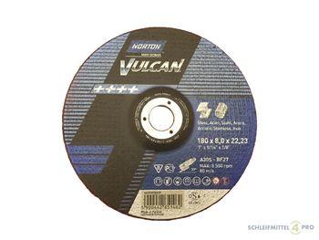 10 NORTON Vulcan Schruppscheiben 180x8,0mm Metall / INOX T27 gekröpft Made in EU – Bild 1