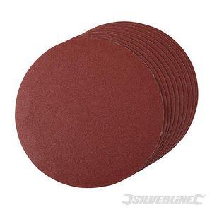 Silverline 10 Stück Klettschleifscheiben 180 mm K 120 – Bild 1