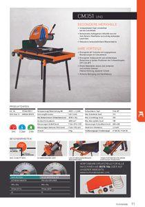 Set NORTON Clipper Steinsäge CM 351 Uno + zweite Scheibe + Schärfstein Trennsäge Tischsäge – Bild 3