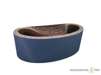 10 SANDERSHARK Schleifbänder 65x410mm K60 Gewebe Zirkon Edelstahl Metall Hartholz Made in Austria – Bild 1