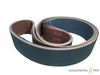 5 SANDERSHARK Schleifbänder 75x2000mm K120 Gewebe Zirkon Edelstahl Metall Hartholz Made in Austria – Bild 1