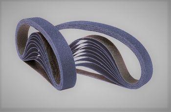 10 NORTON Schleifbänder 13x610 mm P80 Gewebe Zirkon Hartholz Edelstahl Made in EU – Bild 1
