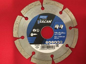 1 Stück Diamantscheibe NORTON 115 x 22,23 mm Vulcan Universal – Bild 2