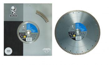 1 Stück Diamantscheibe ATLAS 350 x 20 mm Turbo – Bild 2