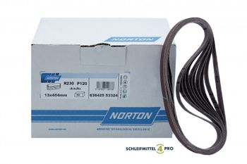 10 NORTON Schleifbänder 13x454mm K40 Gewebe EK Holz Metall Lack Made in EU – Bild 1