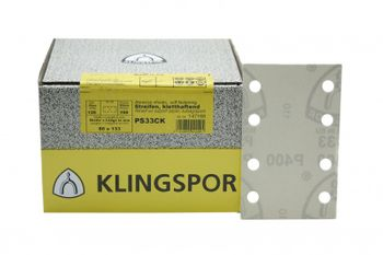 100 Klingspor Schleifblätter 80x133mm 8L K60 PS33CK weiß klett Made in EU – Bild 2