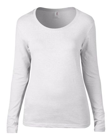 Anvil: Ladies Sheer LS Scoop Tee 399 – Bild 2