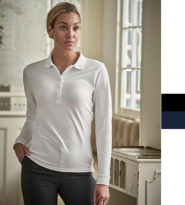 Tee Jays: Ladies Luxury LS Stretch Polo 146 – Bild 1