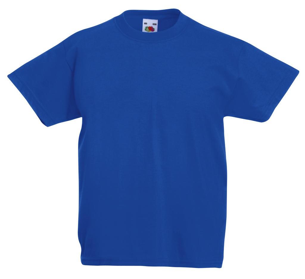 10 Stk Fruit of the Loom T-Shirt Herren New Sky Gr 5 Stk S Blau TOP QUALITÄT