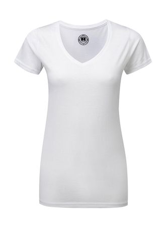 Russell Europe: Ladies V-Neck HD Tee R-166F-0 – Bild 2