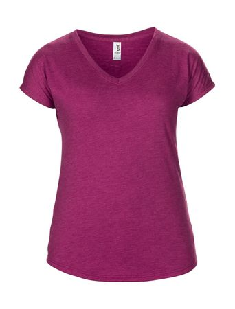 Anvil: Women`s Tri-Blend V-Neck Tee 6750VL – Bild 12