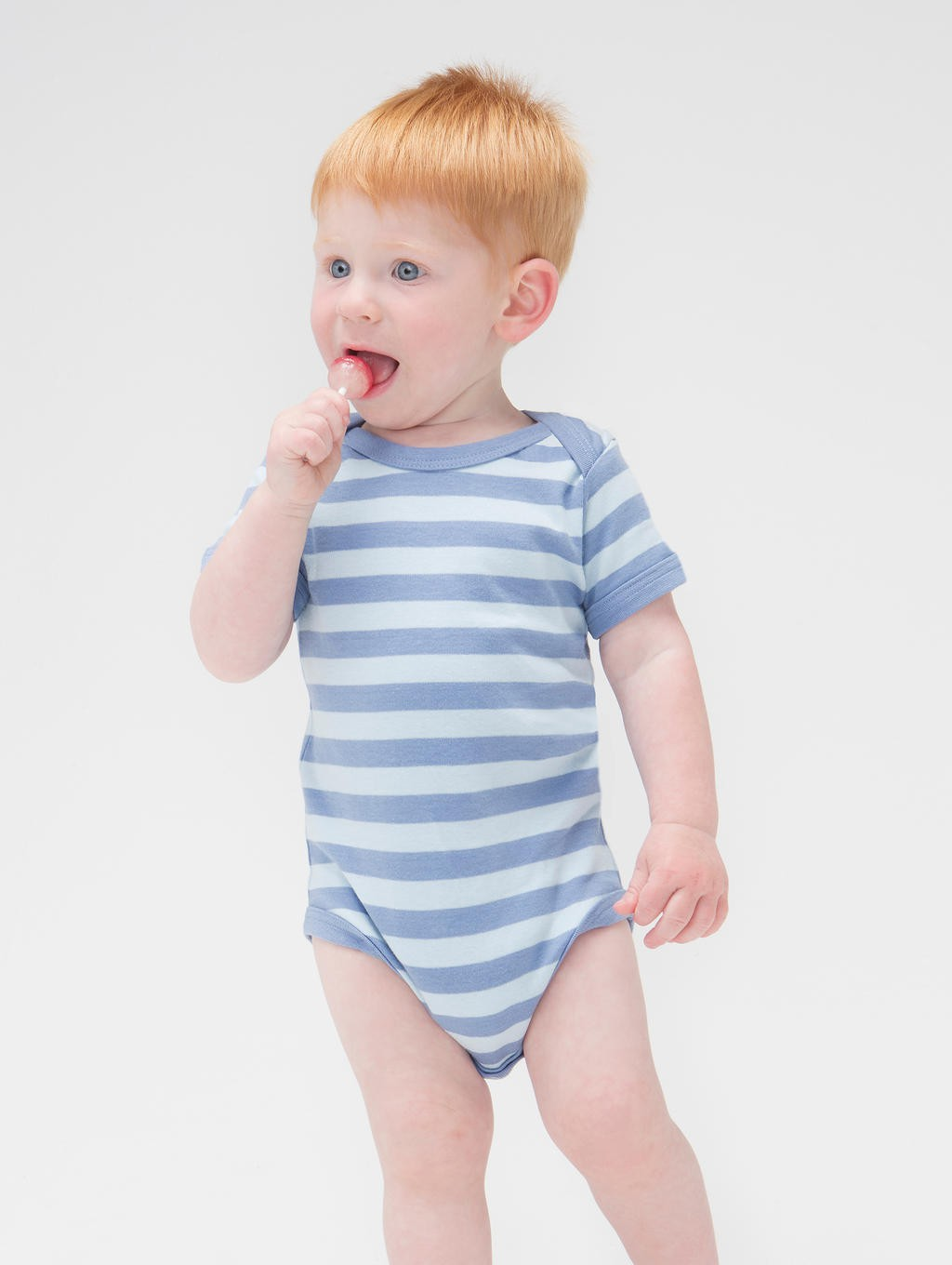 BabyBugz: Baby Striped Short Sleeve Bodysuit BZ10S