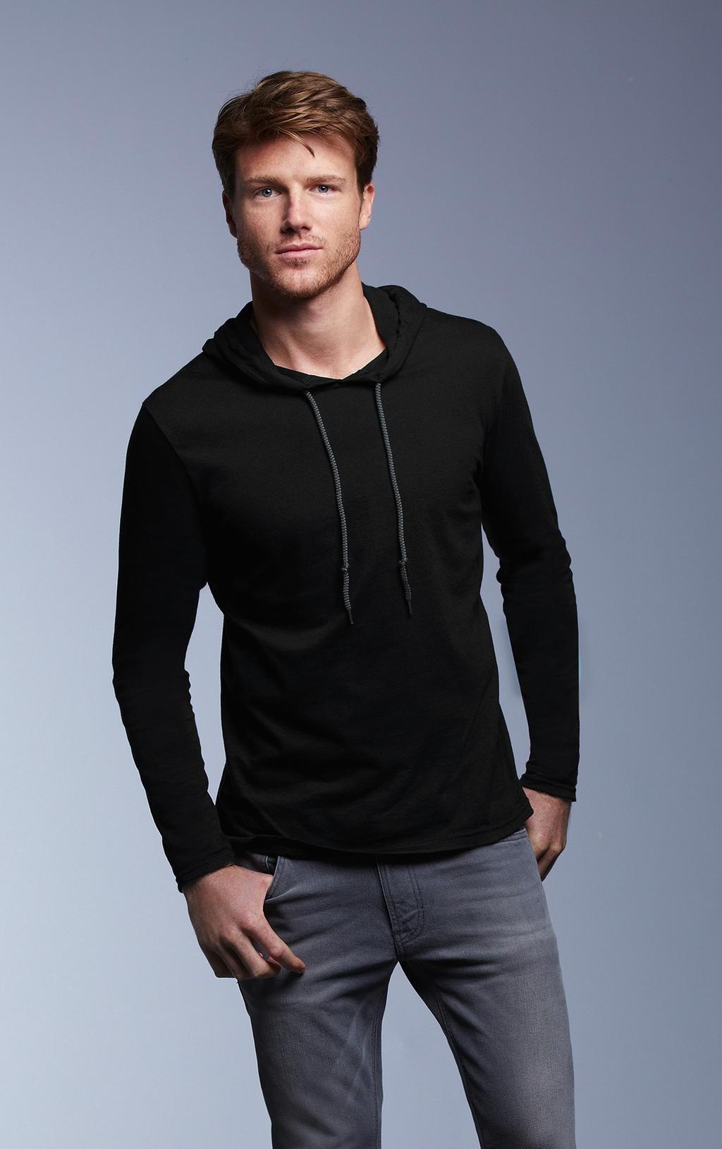 Anvil: Adult Fashion Basic LS Hooded Tee 987