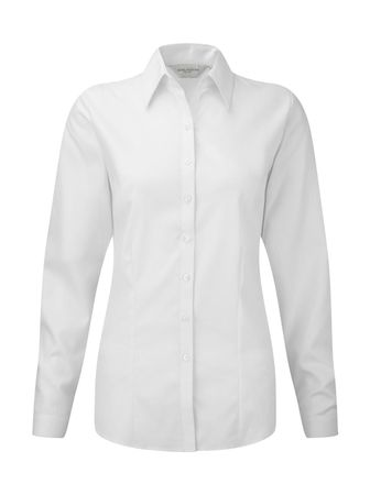 Russell Europe: Ladies` LS Herringbone Shirt R-962F-0 – Bild 2