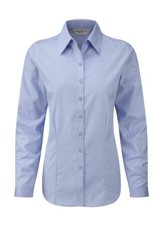 Russell Europe: Ladies` LS Herringbone Shirt R-962F-0 – Bild 3