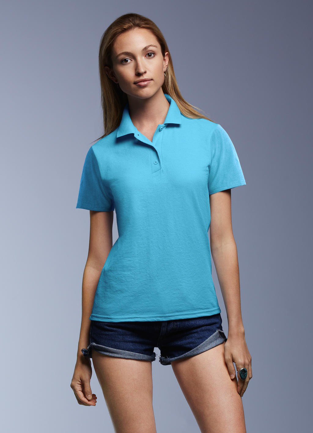 Anvil: Women`s Double Piqué Polo 6280L