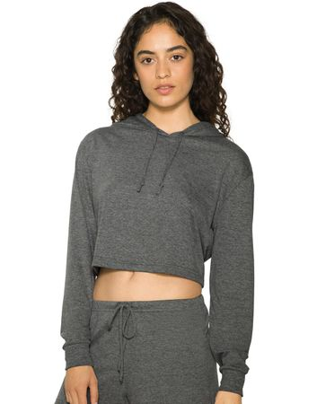 American Apparel: Women`s Tri-Blend Cropped Hoodie RSATR3353W
