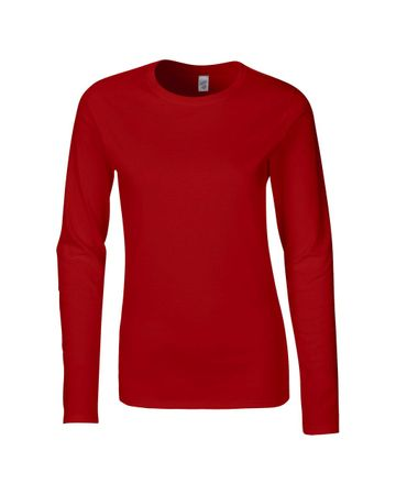 Gildan: Ladies` Softstyle T-Shirt LS 64400L – Bild 8