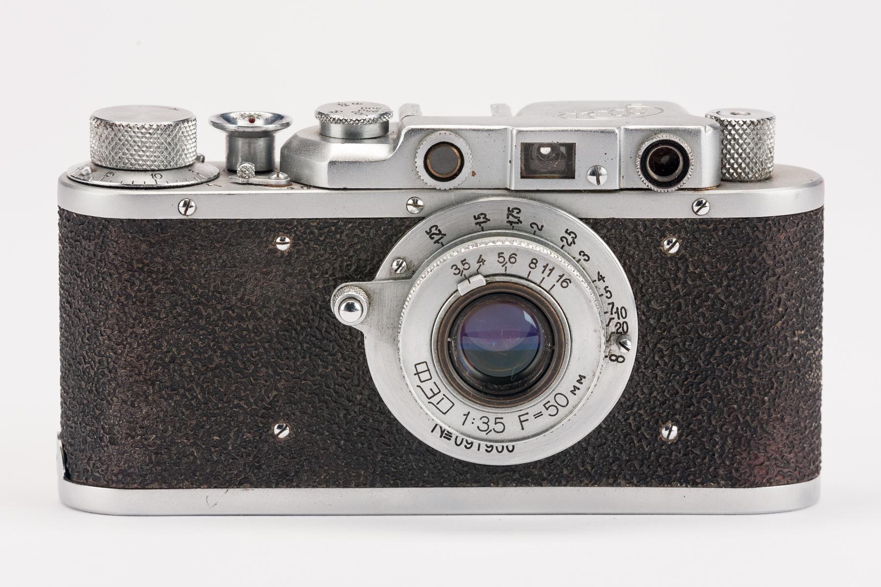 Analoge Fotografie Fed1 Russische Sucherkamera Leica Ii Nachbau Objektiv Fed 3.5 50mm Mit Sucher