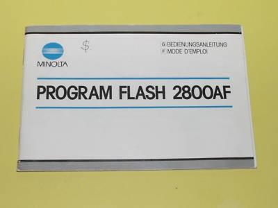Minolta Program 2800 AF 2800AF 2800-AF Flash