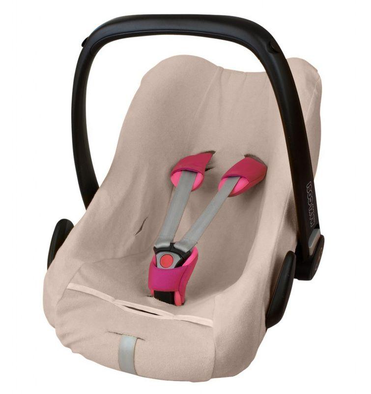 ByBoom - Frottee Sommerbezug, Baby Schonbezug für Babyschale, Autositz, z.B. Maxi Cosi CabrioFix, City, Pebble; Designed in Germany, MADE IN EU