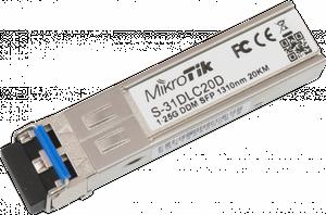 MikroTik SFP Transceiver S-31DLC20D, SM, 20km, 1.25G