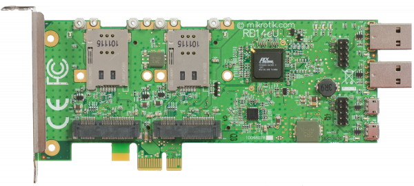 MikroTik RouterBOARD RB14eU, miniPCI-express zu PCI-express Adapter mit USB