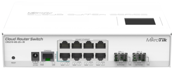 MikroTik Cloud Router Switch - CRS210-8G-2S+IN