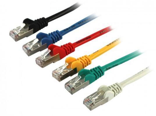 Patchkabel S/FTP(S/FTP), CAT.6, gelb - in verschiedenen Längen