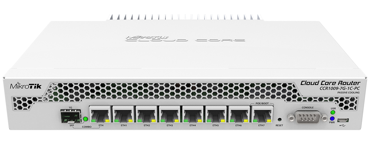 MikroTik Cloud Core Router - CCR1009-7G-1C-PC