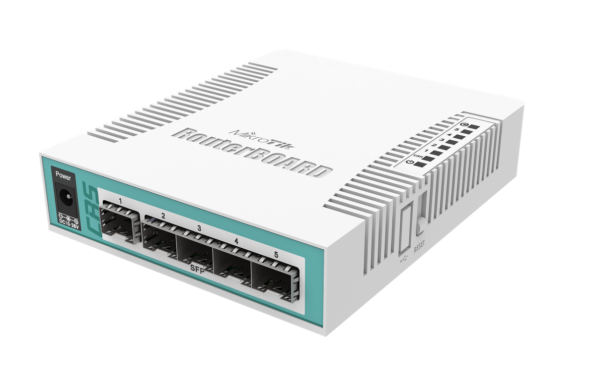 MikroTik Cloud Router Switch - CRS106-1C-5S