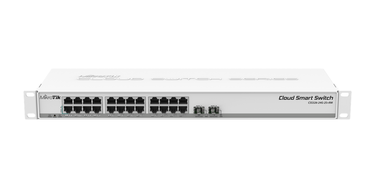 MikroTik Cloud Smart Switch - CSS326-24G-2S+RM