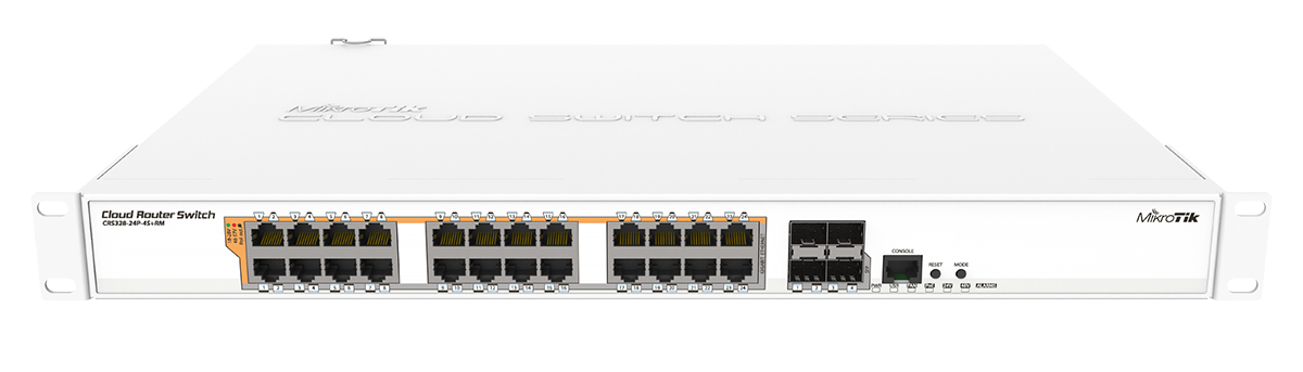 MikroTik Cloud Router Switch - CRS328-24P-4S+RM