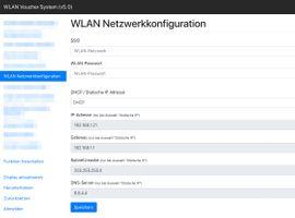 WLAN Netzwerkkonfiguration - OMG Voucher Drucker