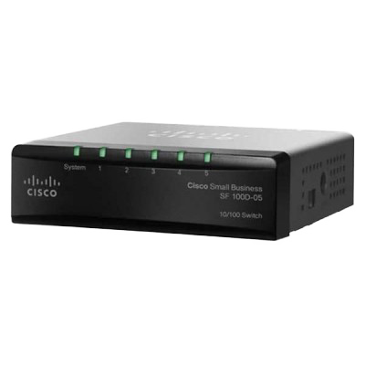 Cisco Small Business 100 Series Unmanaged Switch - 5 Anschlüsse - Ethernet - SF100D-05