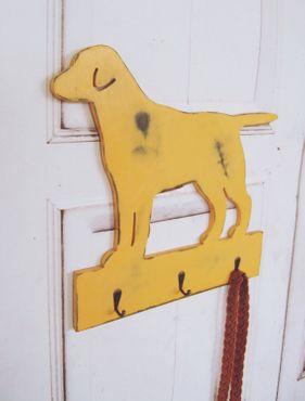 Hundegarderobe, Garderobe für den Hund LABRADOR im Shabby Chic Landhausstil – Bild 1