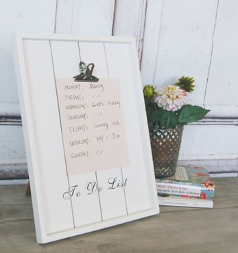 "Memobord ""To do List"" Klemmbrett Notizbrett im Landhaus Shabby Chic Stil"