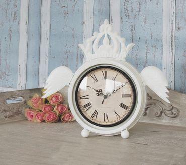 Wecker AMELIE Landhaus Uhr, antique Shabby Chic 35cm