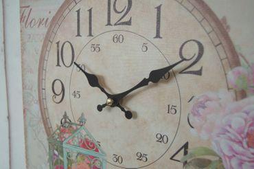 Wanduhr CLAIRE, antique Uhr im Shabby chic Landhausstil – Bild 3