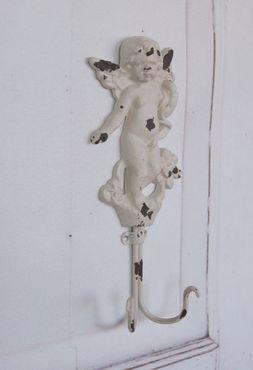 Wandgarderobe ENGEL, Garderobe, Hakenleiste antique shabby chic – Bild 1