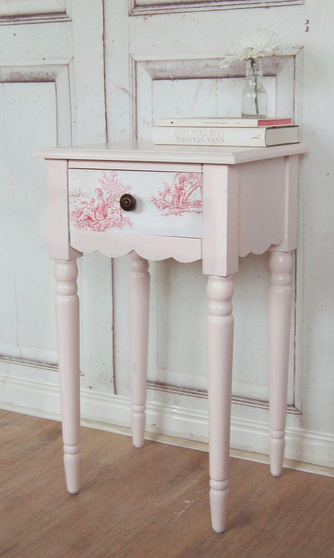 beistelltisch rosa antique shabby chic tisch pip landschaft wohnen beistelltische nachttische. Black Bedroom Furniture Sets. Home Design Ideas