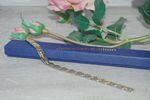 Magnetarmband bicolor, Armband silber/goldfarben, 21cm 001