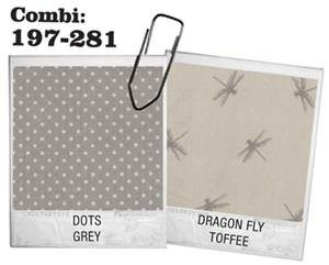 "Bettwäsche Dots/Dragon Fly-Grey/Toffee von ""Au Maison"""
