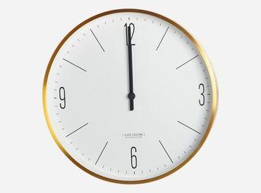 "Wanduhr ""Clock Couture"" gold/ weiss"