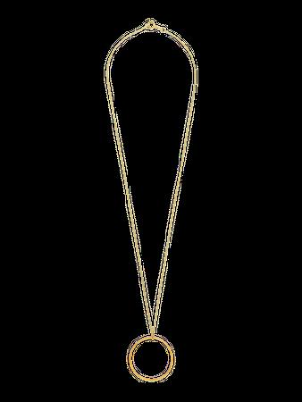 Symbolkette Circle of Life silber vergoldet 50cm – Bild 2