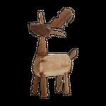 Elch aus Holz Höhe 32 cm, 17x7cm (Unikat) 001
