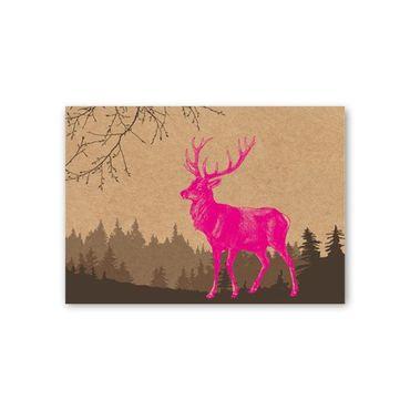 herbstliche Grusskarte, stylische Weihnachtskarte  – Bild 1
